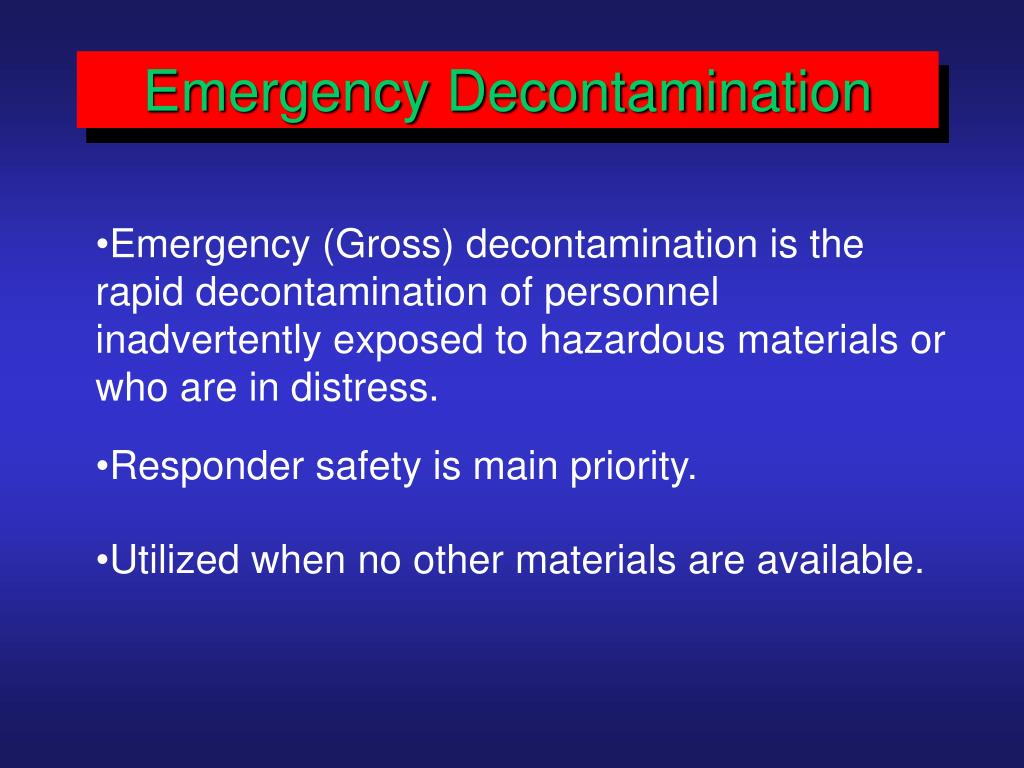 Emergency Decontamination