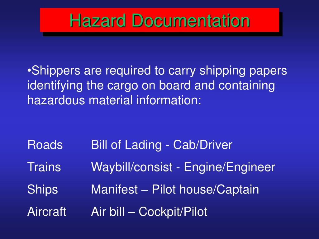 Hazard Documentation