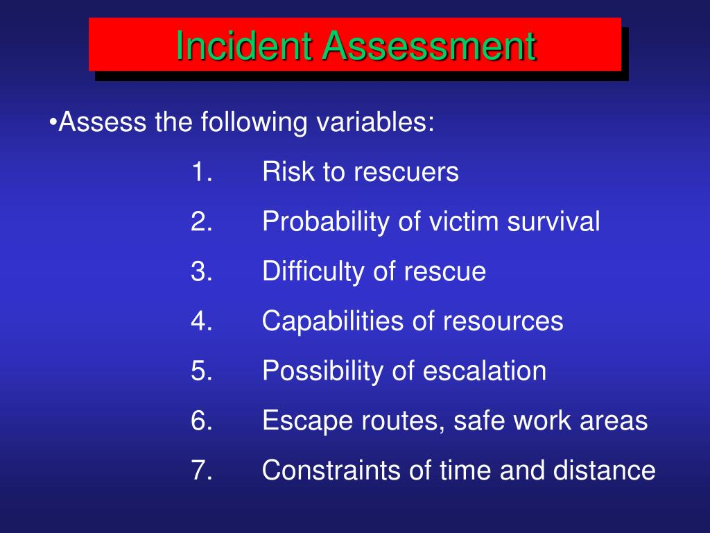 Incident Assessment