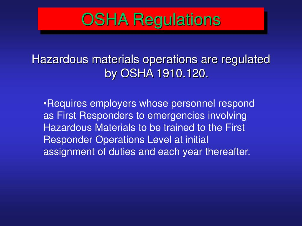 OSHA Regulations