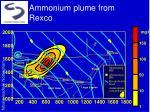 ammonium plume from rexco