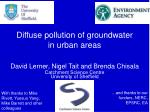diffuse pollution of groundwater in urban areas