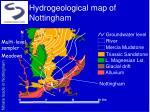 hydrogeological map of nottingham