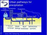 urban pathways for precipitation