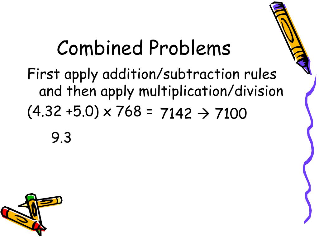 Combined Problems