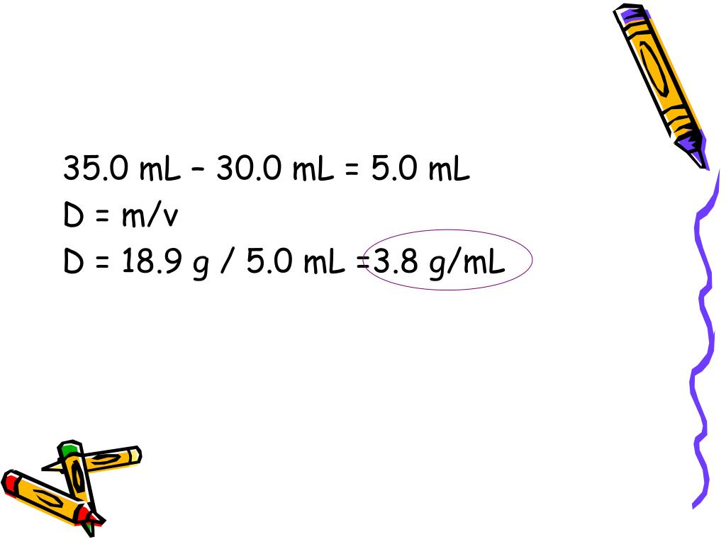 35.0 mL – 30.0 mL = 5.0 mL