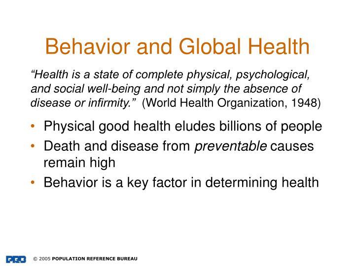 Behavior and global health