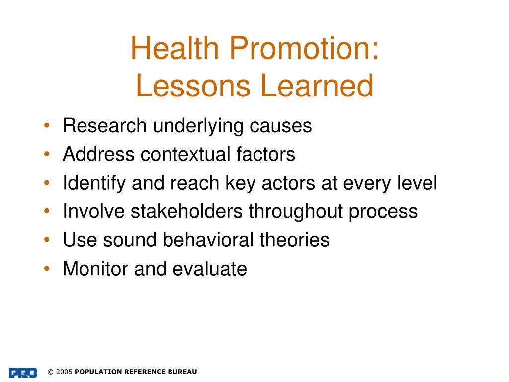 Health Promotion: