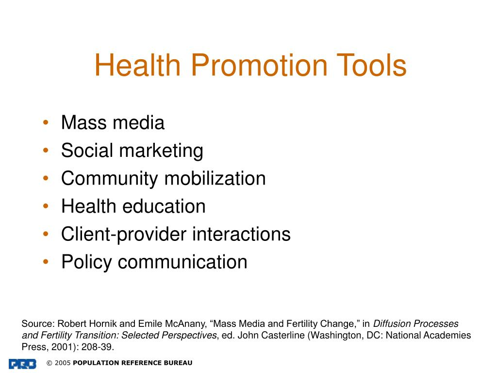 Health Promotion Tools