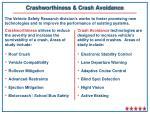 crashworthiness crash avoidance