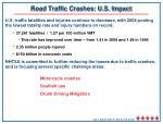 road traffic crashes u s impact