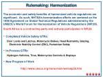 rulemaking harmonization