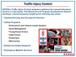 traffic injury control