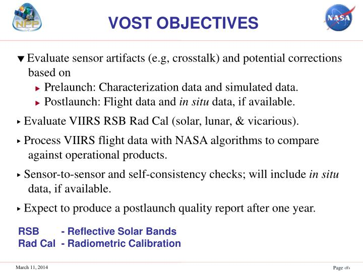 VOST OBJECTIVES