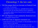 chronology 5 the law suits