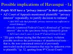 possible implications of havasupai 1a