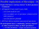 possible implications of havasupai 1b