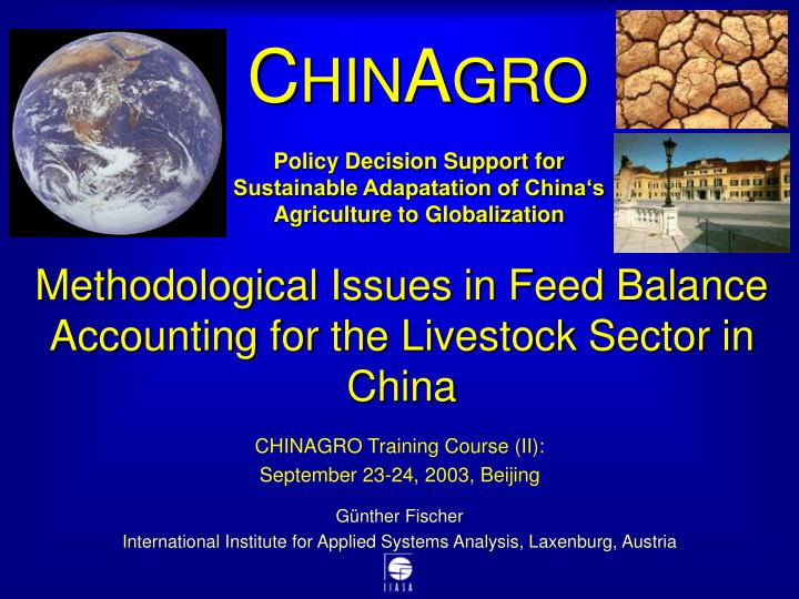 methodological issues in feed balance accounting for the livestock sector in china n.