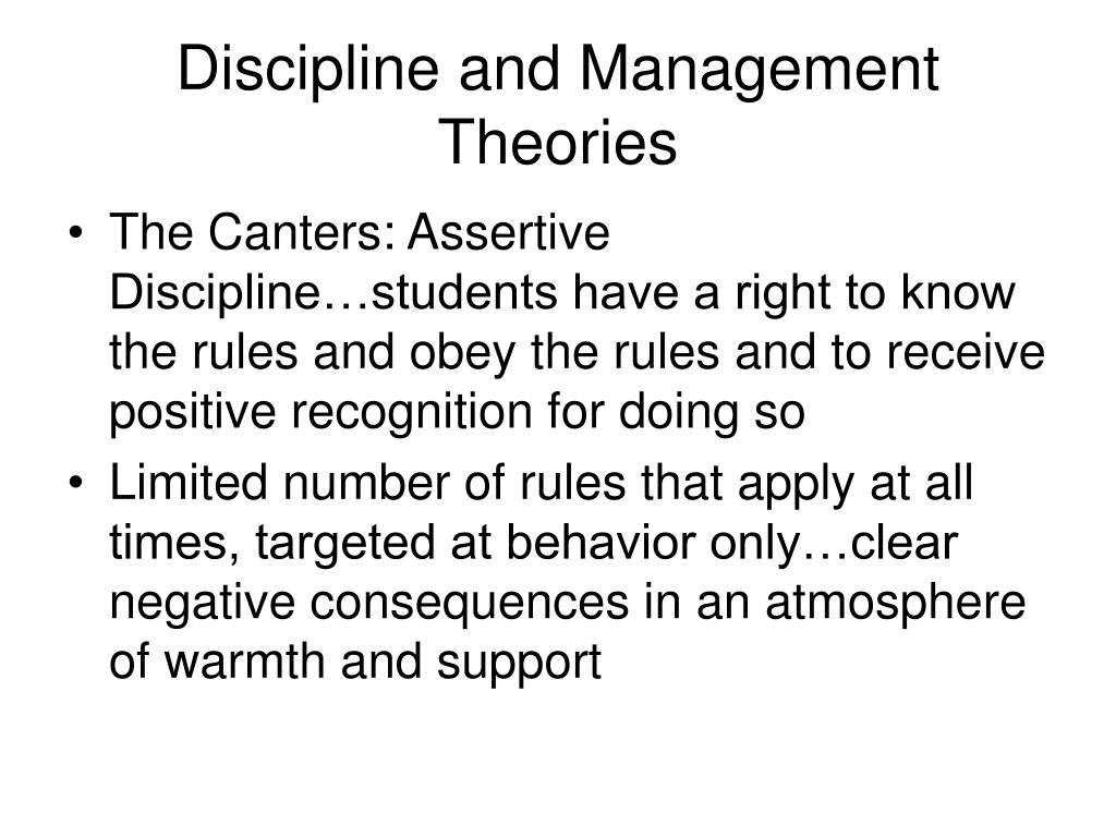 Discipline and Management Theories