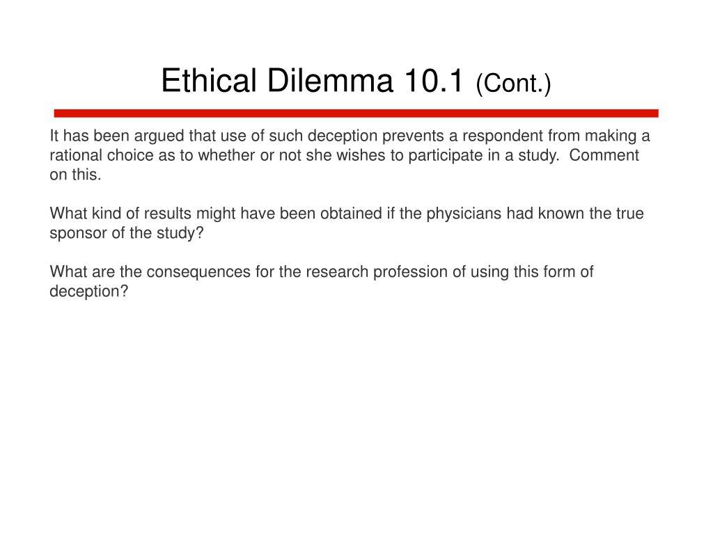 Ethical Dilemma 10.1