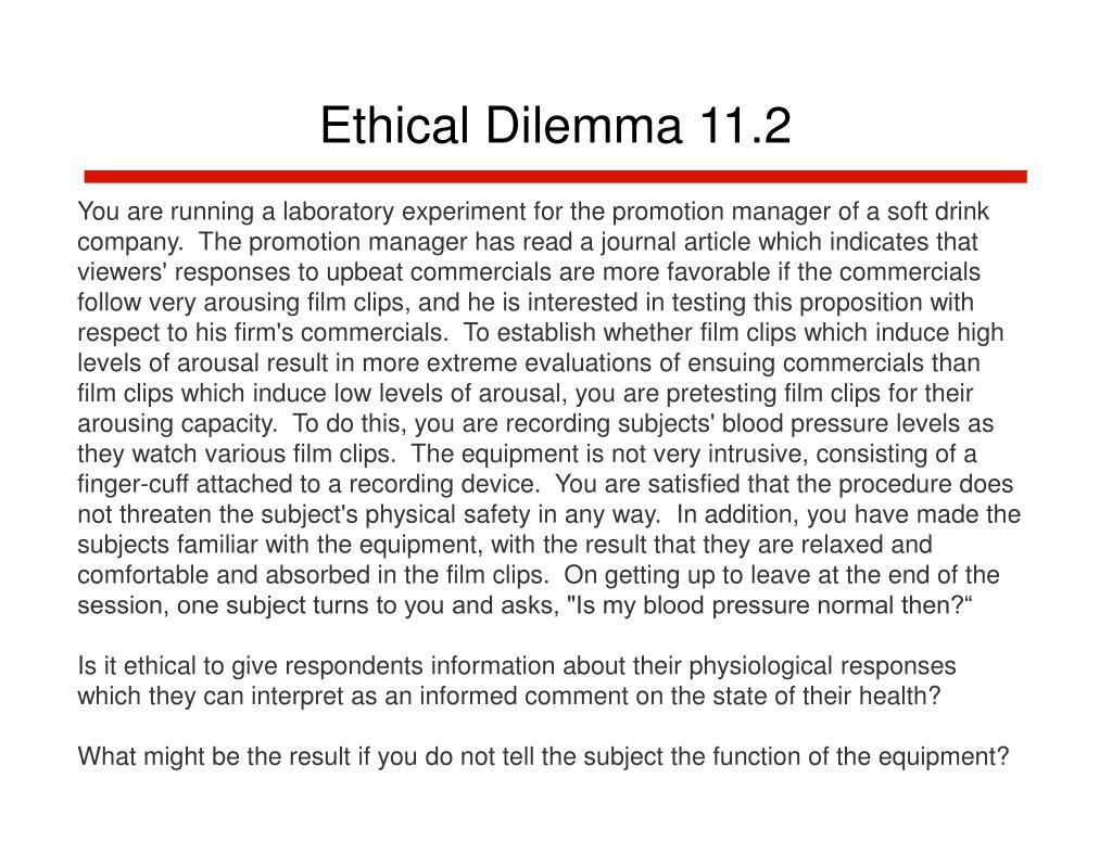 Ethical Dilemma 11.2