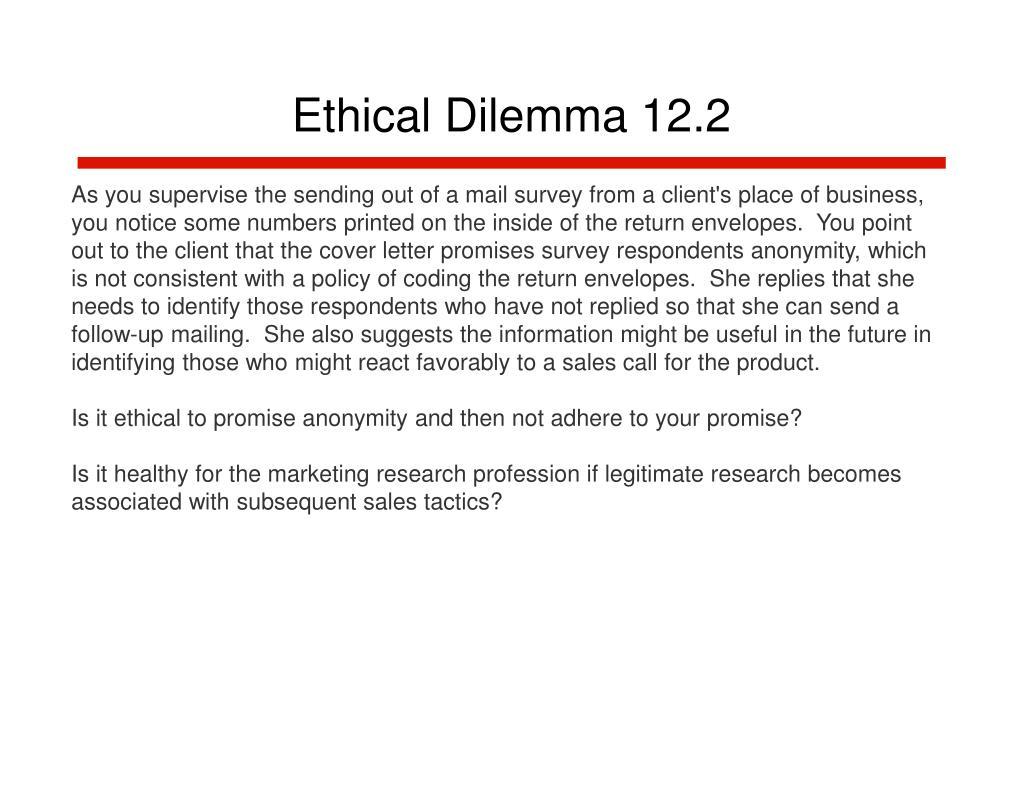 Ethical Dilemma 12.2