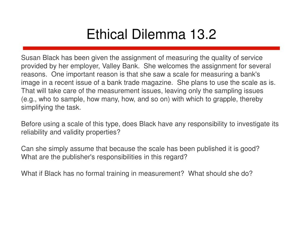 Ethical Dilemma 13.2