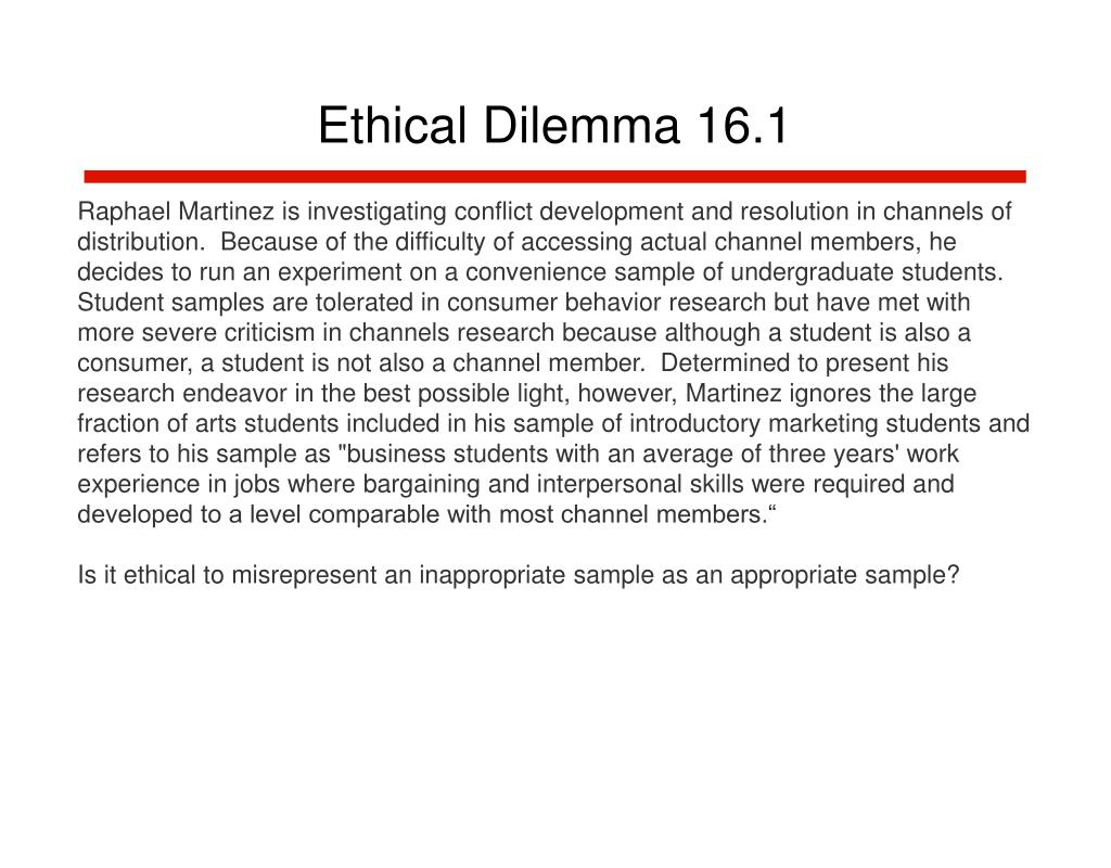 Ethical Dilemma 16.1