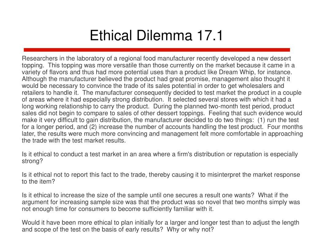 Ethical Dilemma 17.1