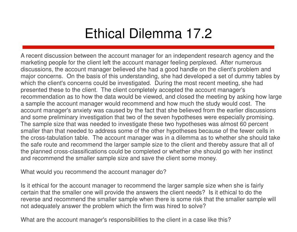 Ethical Dilemma 17.2