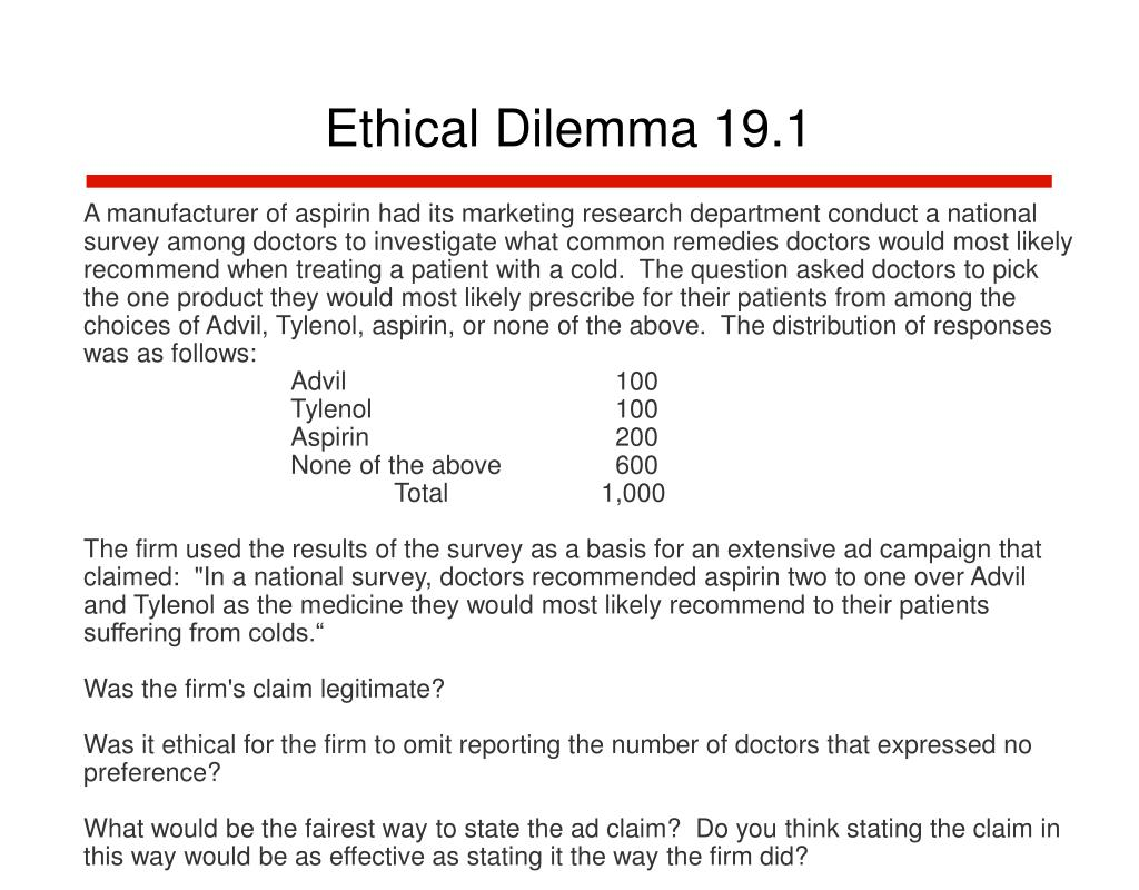 Ethical Dilemma 19.1