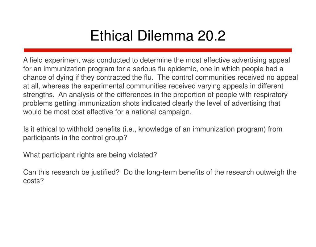 Ethical Dilemma 20.2