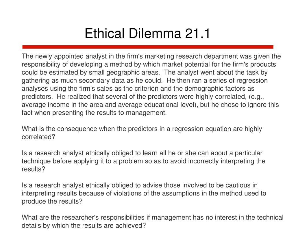 Ethical Dilemma 21.1