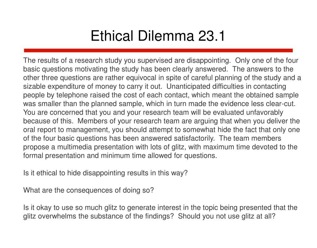 Ethical Dilemma 23.1