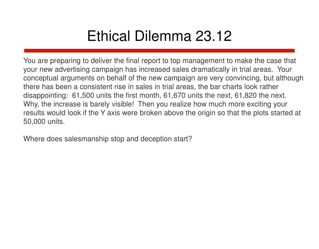 Ethical Dilemma 23.12