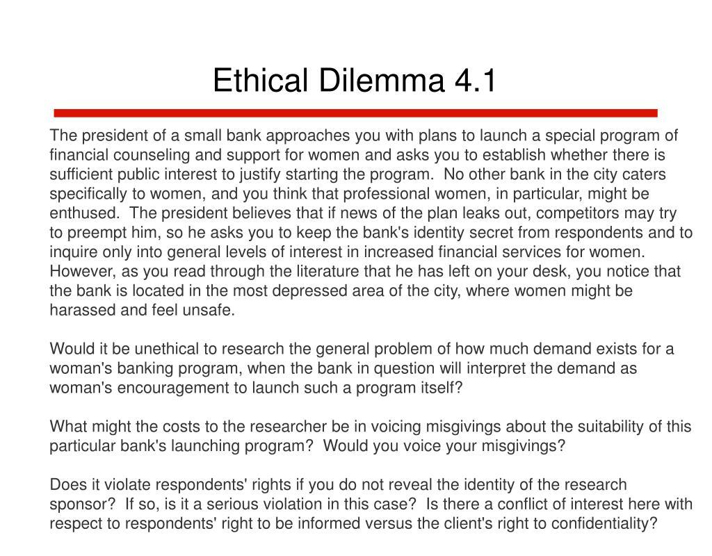 Ethical Dilemma 4.1