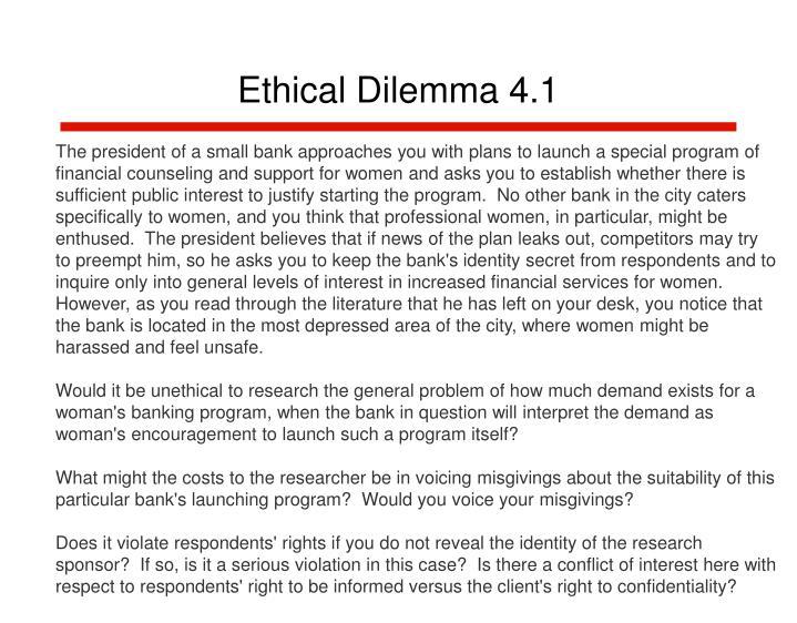 Ethical dilemma 4 1