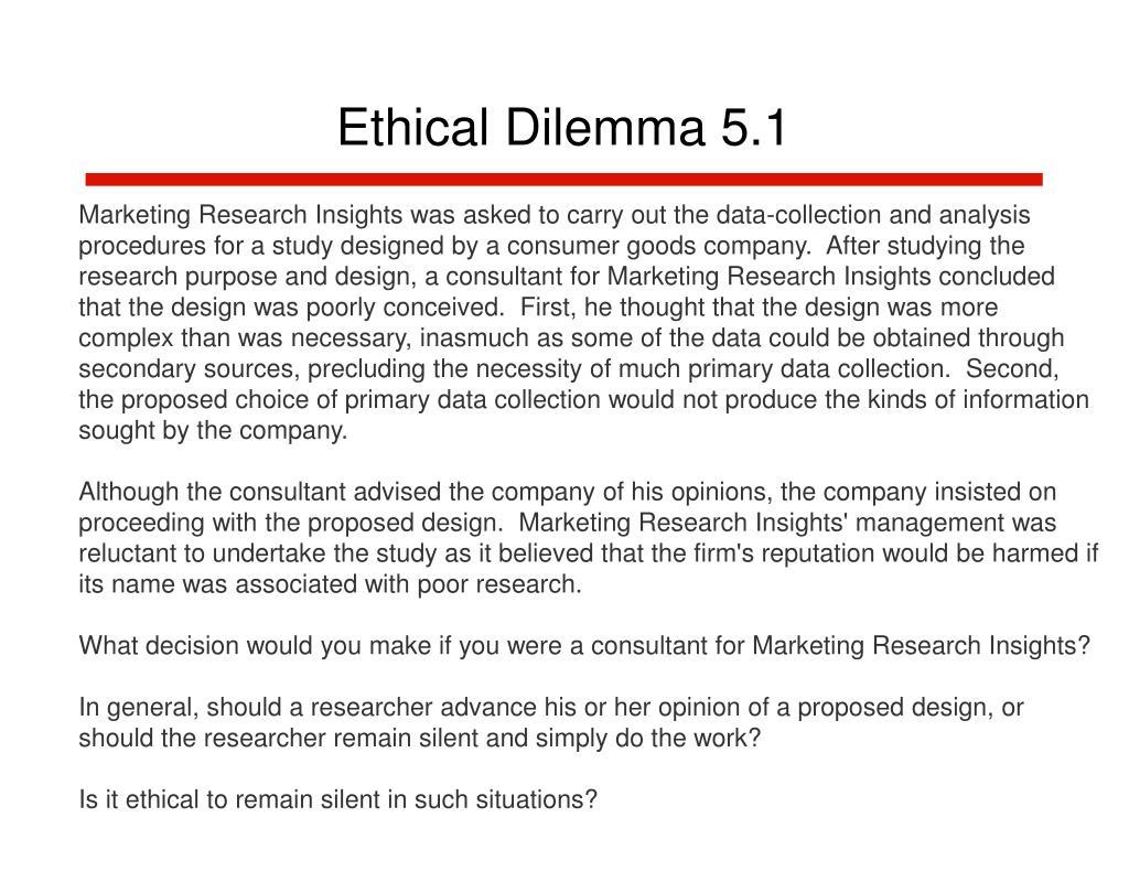 Ethical Dilemma 5.1