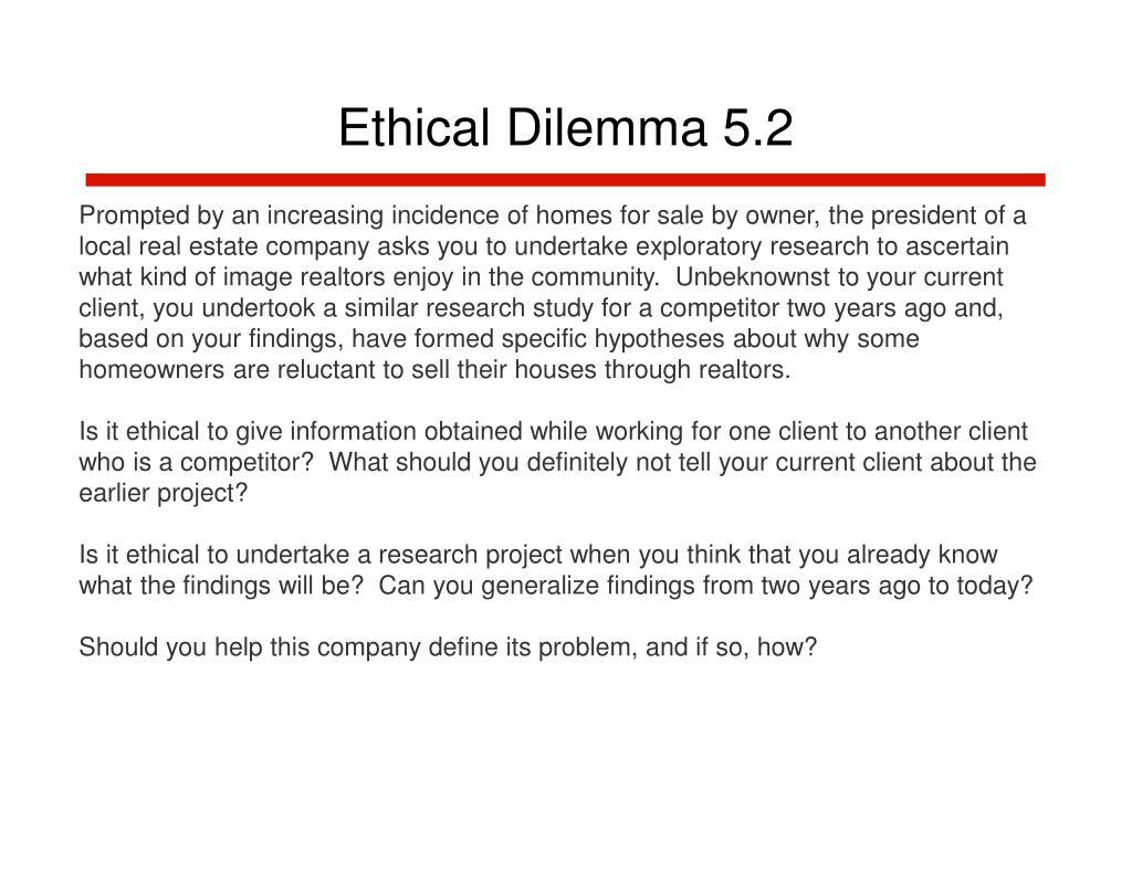 Ethical Dilemma 5.2