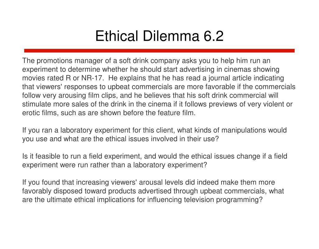Ethical Dilemma 6.2