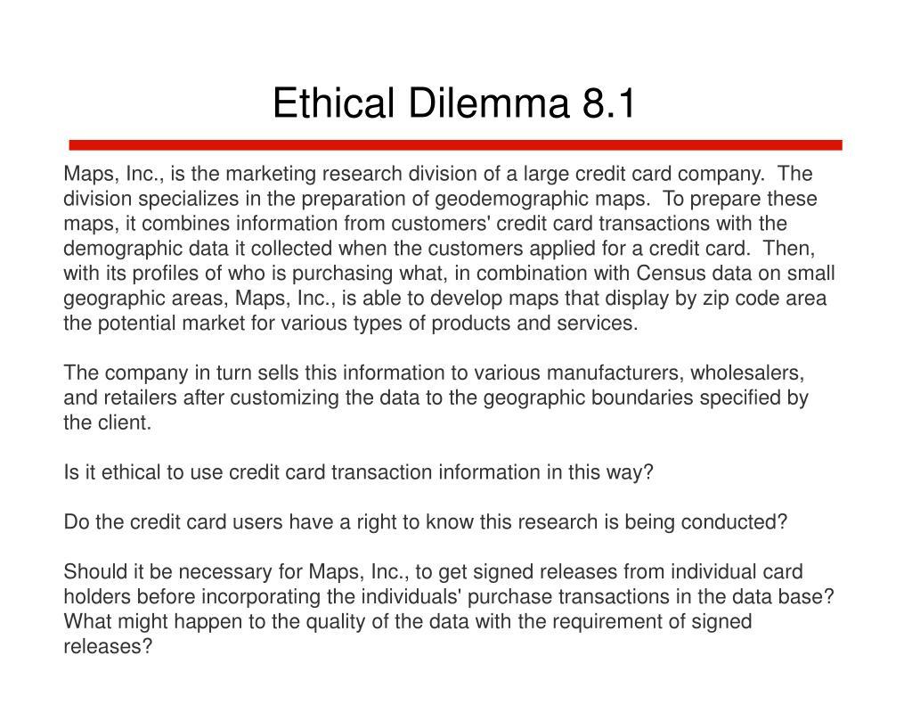 Ethical Dilemma 8.1