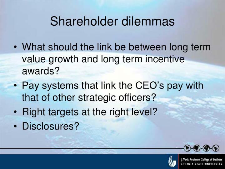 Shareholder dilemmas3