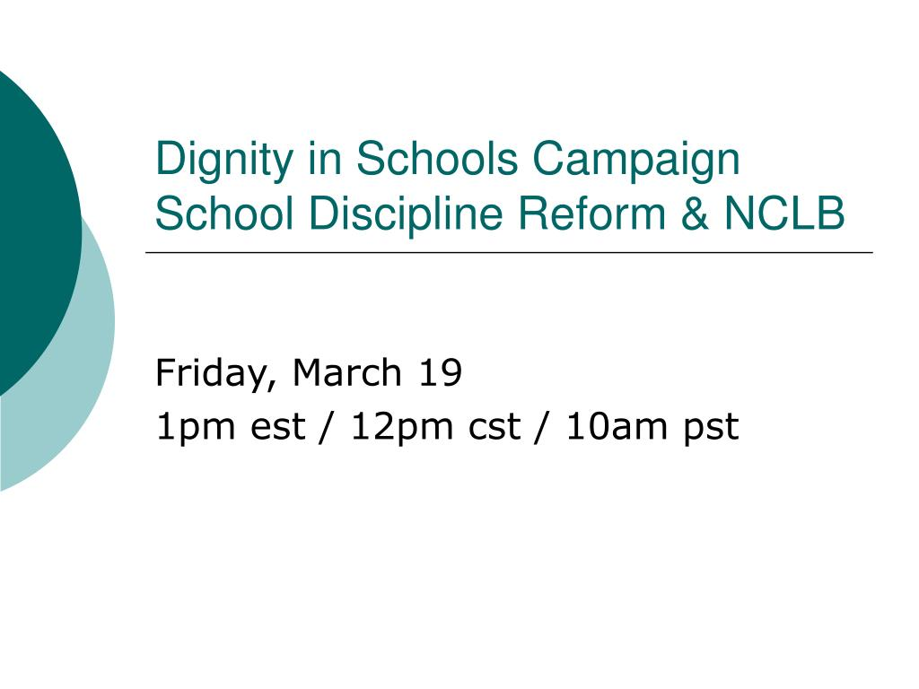 1Pm Pst To Cst ppt - dignity in schools campaign school discipline reform