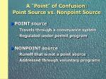 a point of confusion point source vs nonpoint source