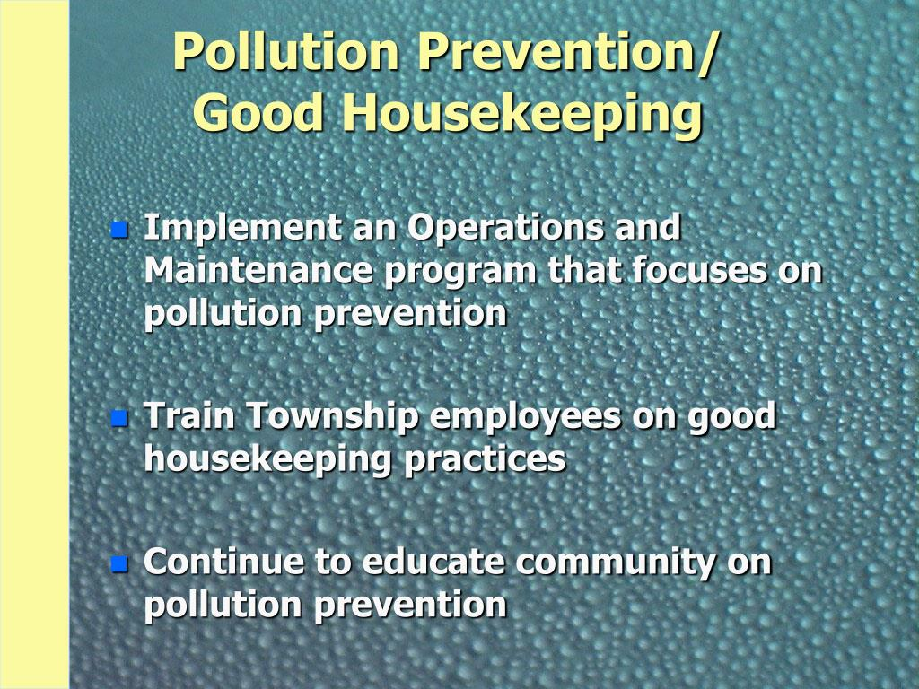 Pollution Prevention/