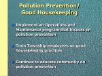 pollution prevention good housekeeping