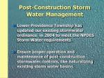 post construction storm water management