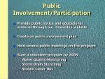 public involvement participation