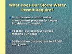 what does our storm water permit require