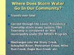 where does storm water go in our community